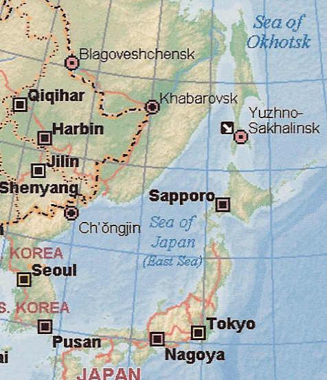 Street map Yuzhno Sakhalinsk